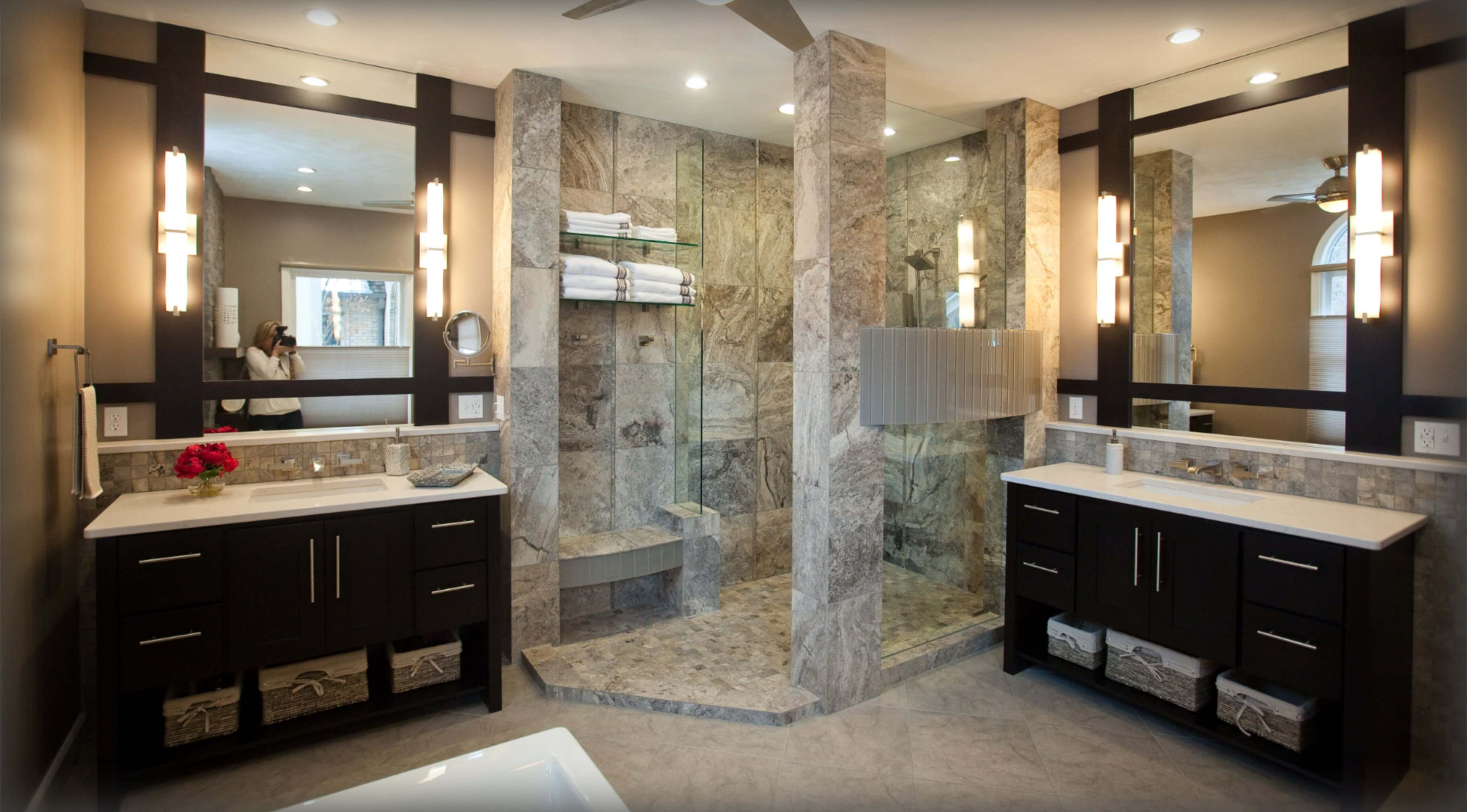 Interior Design Services Finished Bathroom by Wright Building Center
