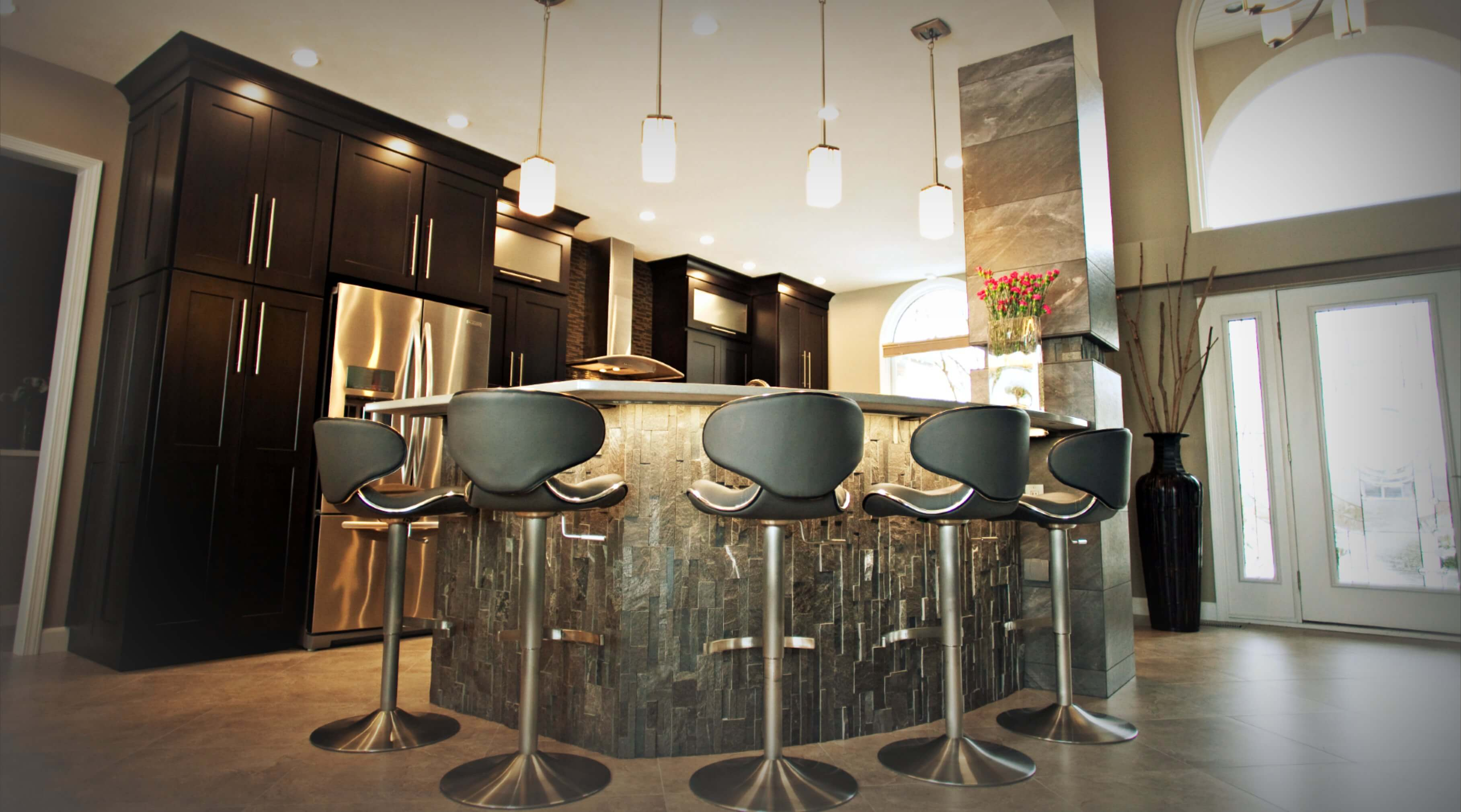 Interior Design Services Done on Kitchen by Wright Building Center